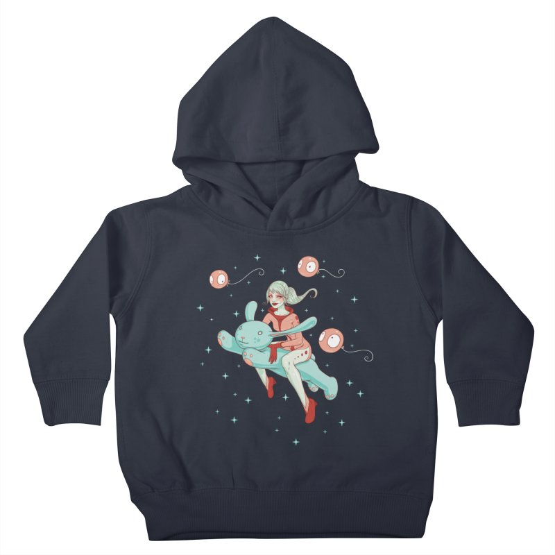 Space Bunny Kids Toddler Pullover Hoody by Tara McPherson