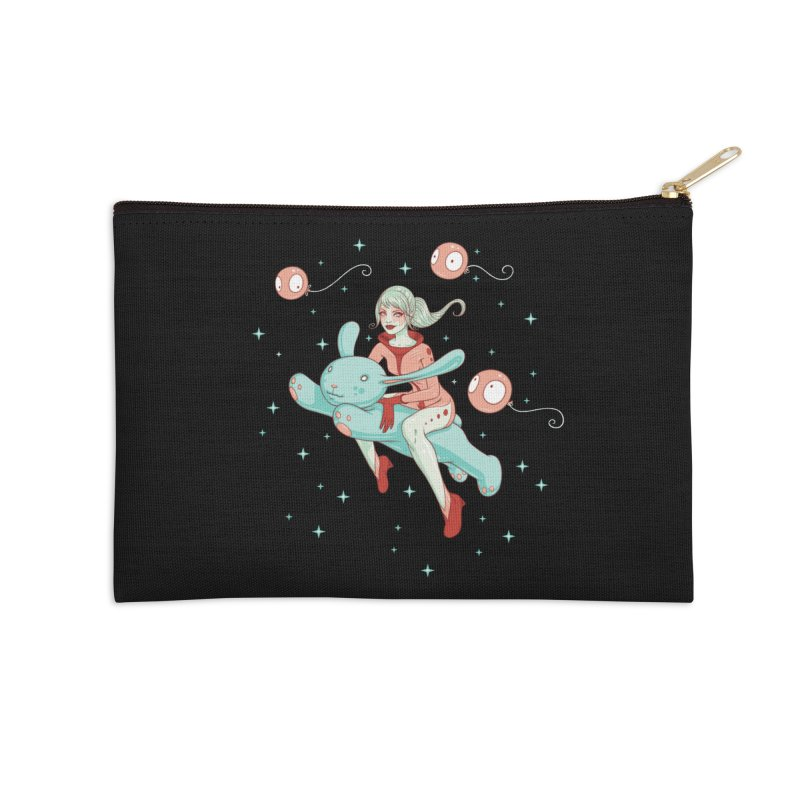 Space Bunny Accessories Zip Pouch by Tara McPherson
