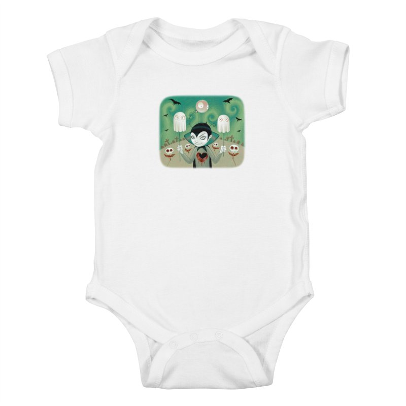 Halloween Kids Baby Bodysuit by Tara McPherson