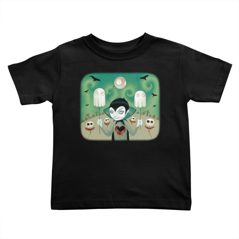 Halloween Kids Toddler T-Shirt by Tara McPherson
