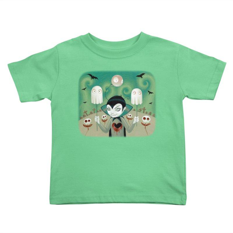 Halloween Kids Toddler T-Shirt by Tara McPherson