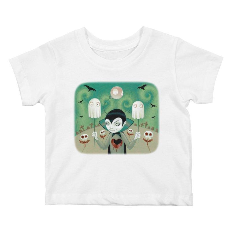 Halloween Kids Baby T-Shirt by Tara McPherson