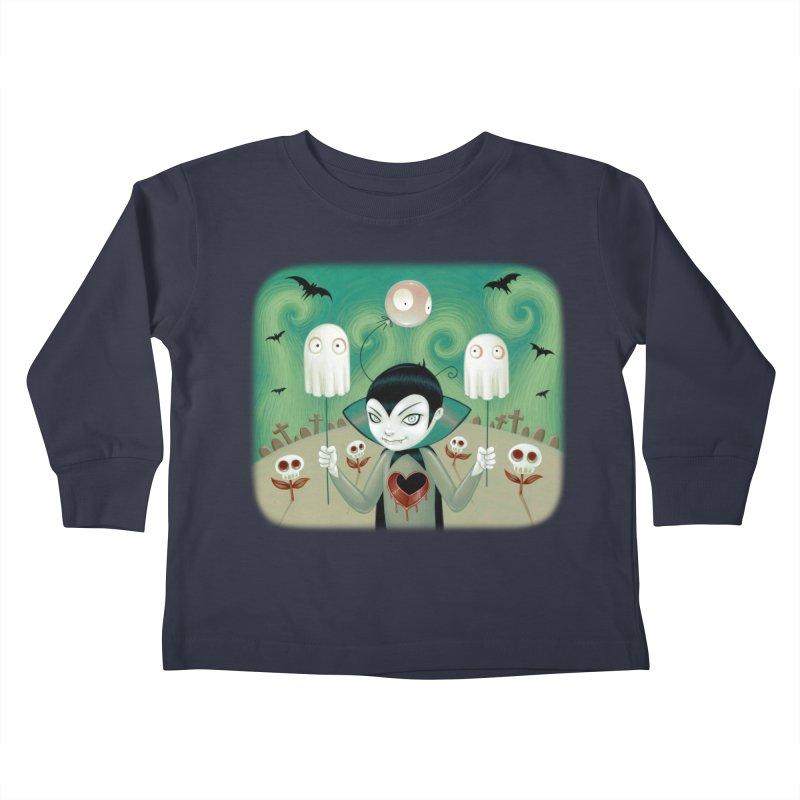 Halloween Kids Toddler Longsleeve T-Shirt by Tara McPherson