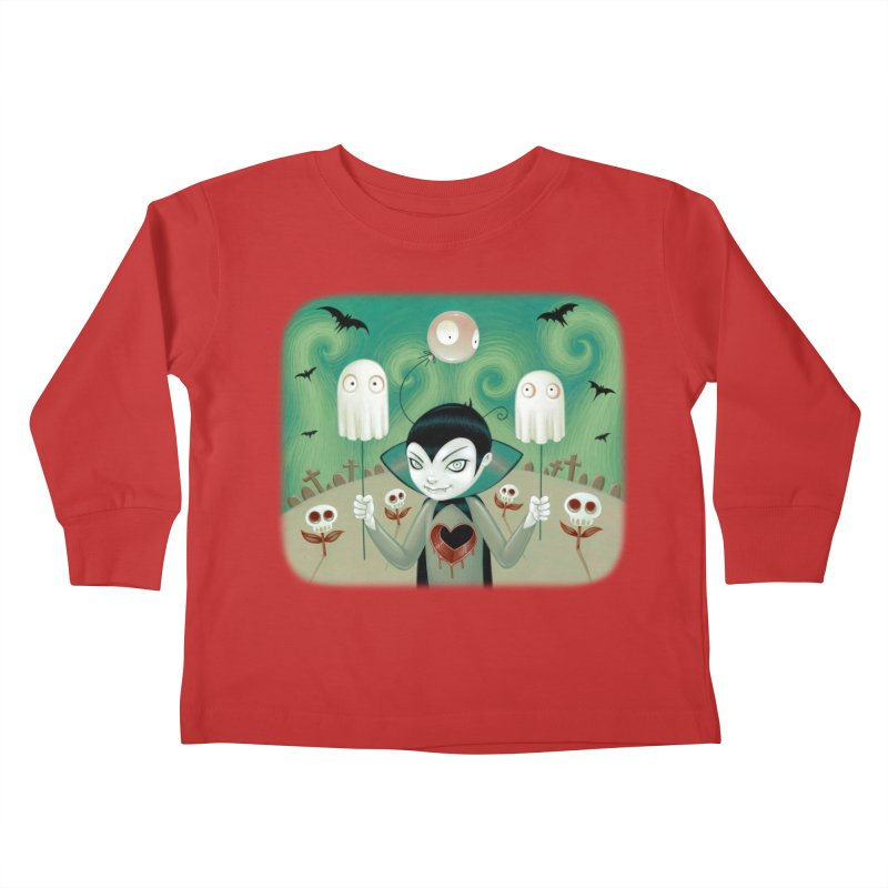 Halloween Kids Toddler Longsleeve T-Shirt by Tara McPherson