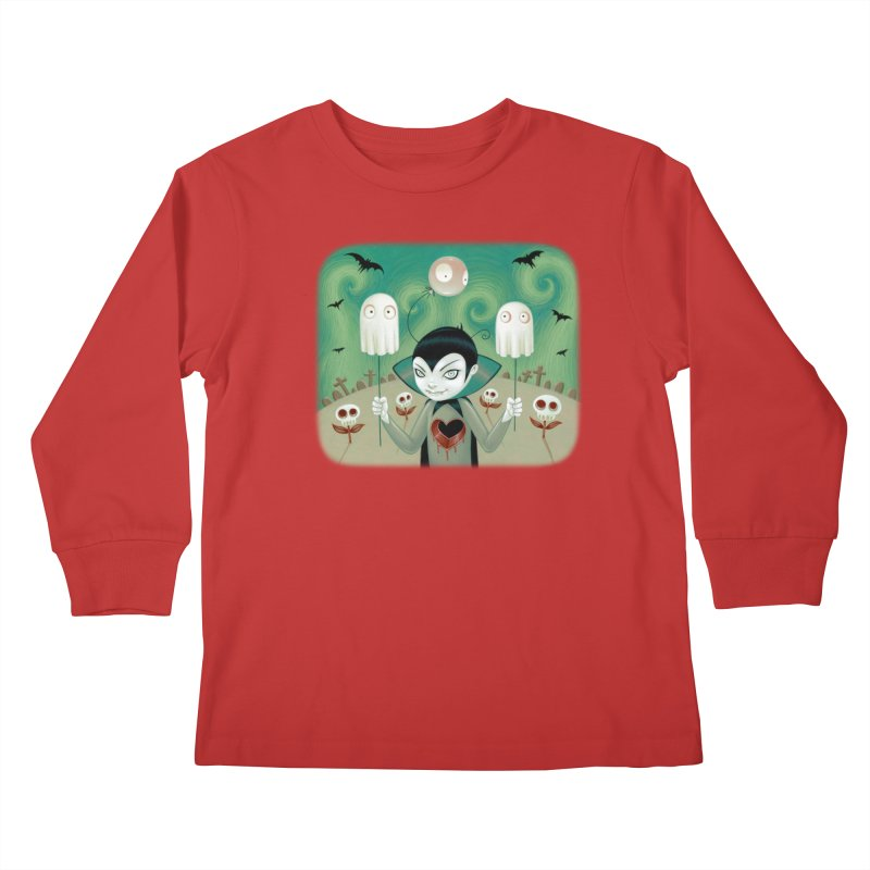 Halloween Kids Longsleeve T-Shirt by Tara McPherson