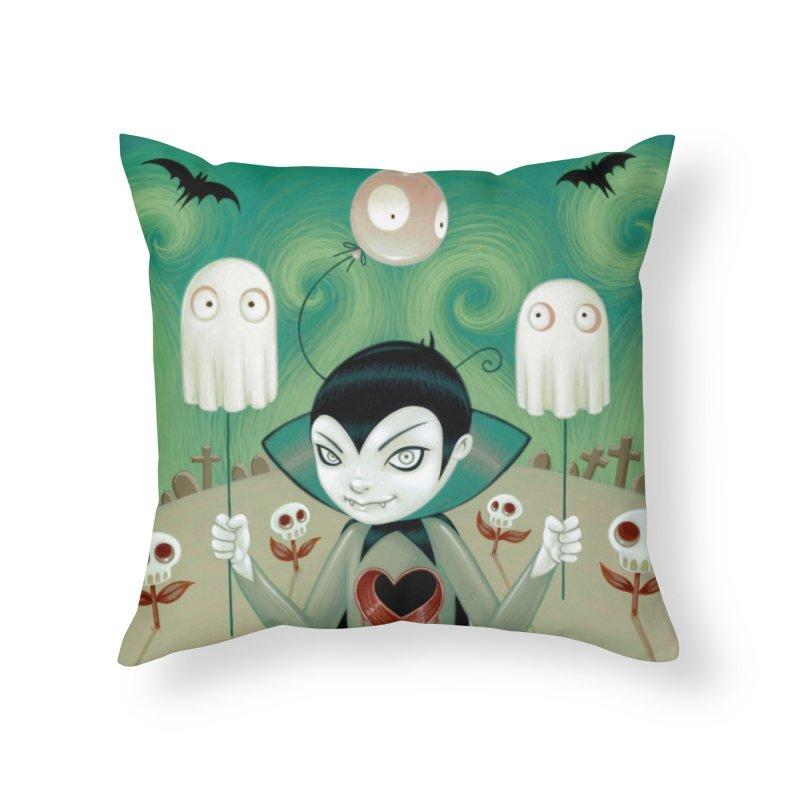 Halloween Home Throw Pillow by Tara McPherson