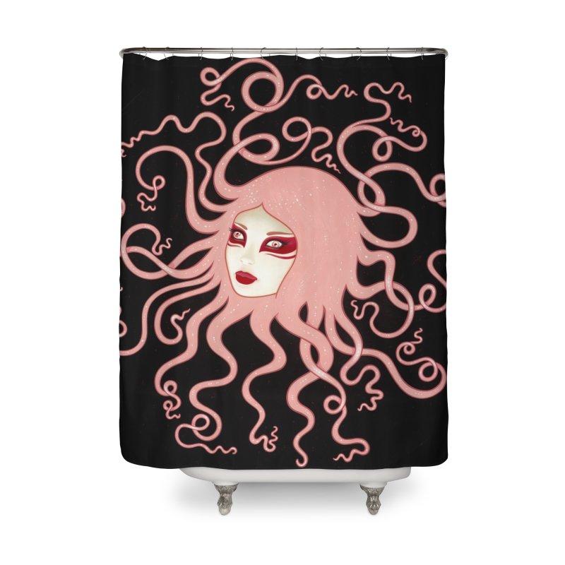 Inertia Home Shower Curtain by Tara McPherson