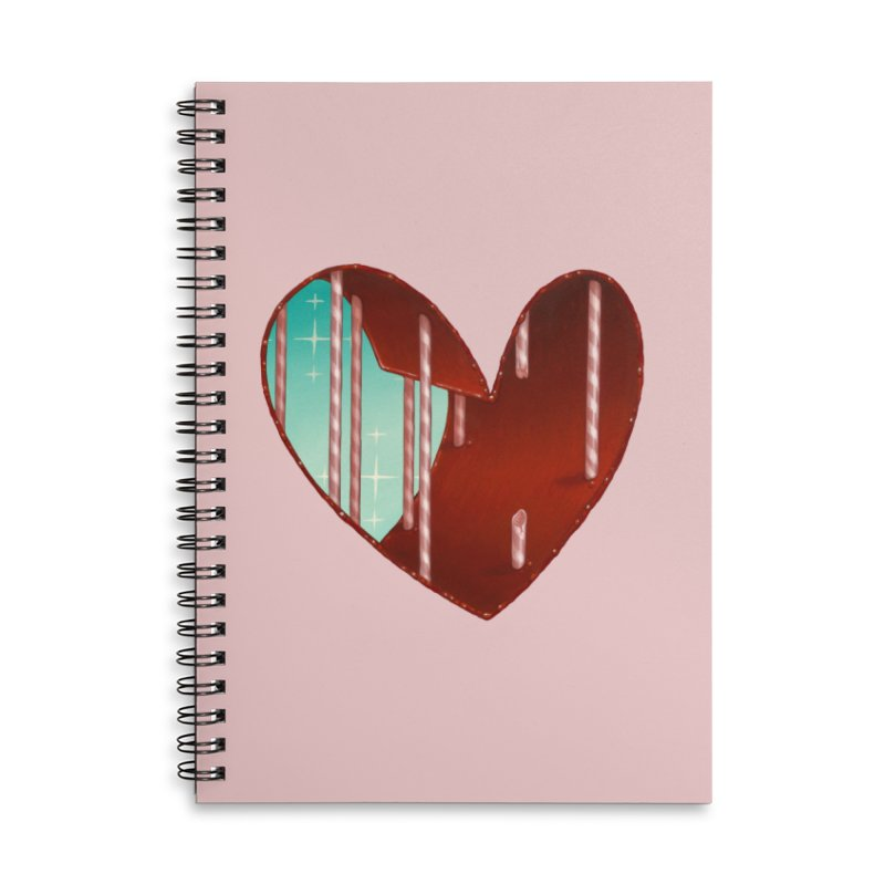 Jailbreak Accessories Lined Spiral Notebook by Tara McPherson