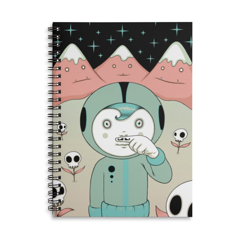 Lucius and His First Mustache Finger Accessories Lined Spiral Notebook by Tara McPherson