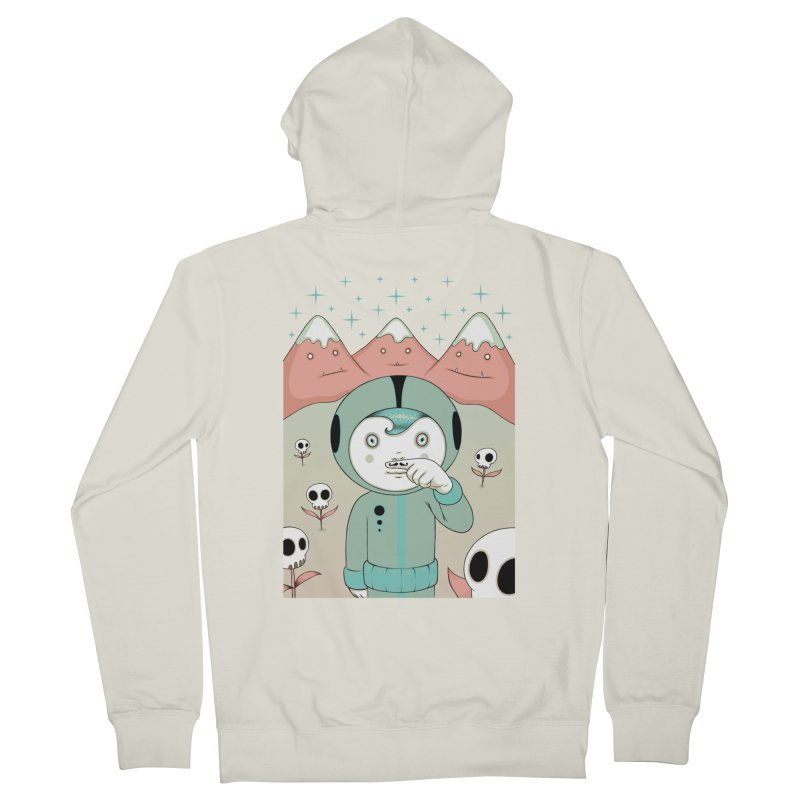 Lucius and His First Mustache Finger Men's Zip-Up Hoody by Tara McPherson