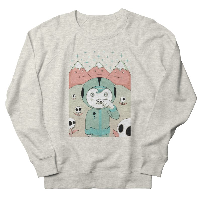 Lucius and His First Mustache Finger Men's Sweatshirt by Tara McPherson