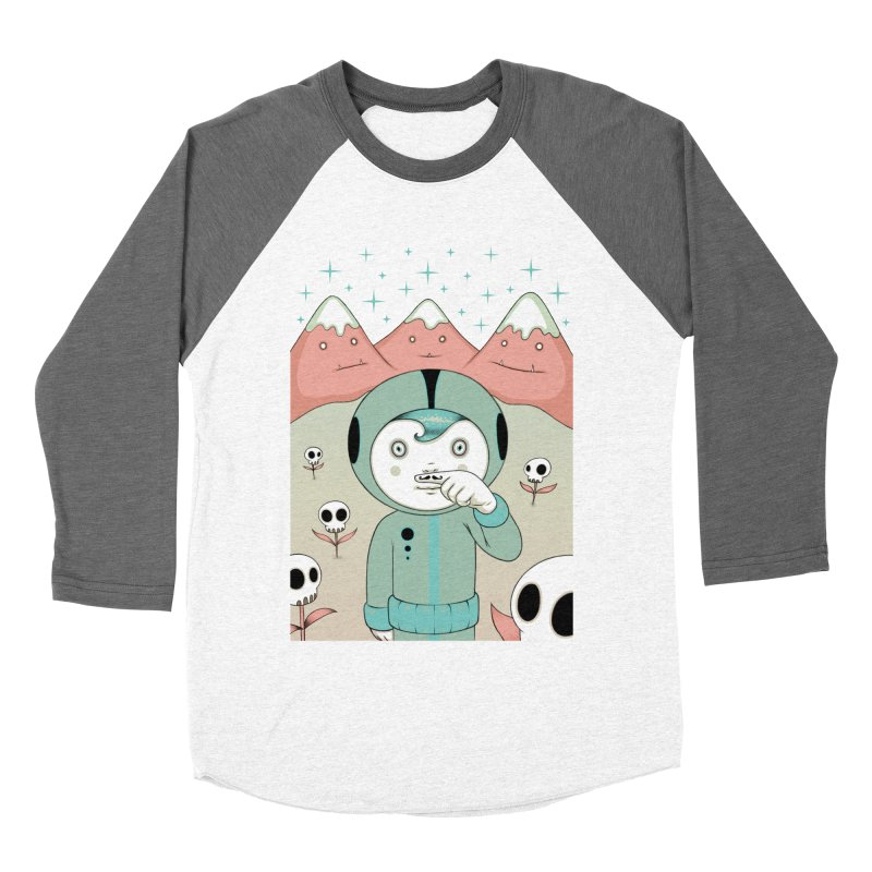 Lucius and His First Mustache Finger Men's Baseball Triblend T-Shirt by Tara McPherson