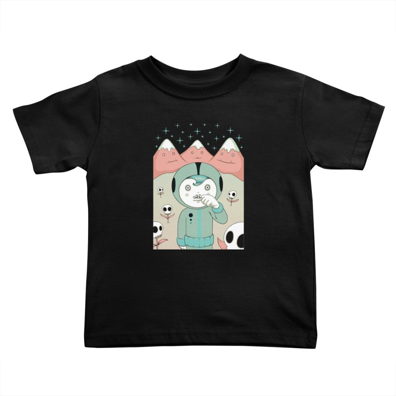 Lucius and His First Mustache Finger Kids Toddler T-Shirt by Tara McPherson