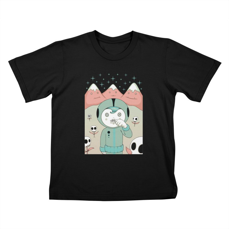 Lucius and His First Mustache Finger Kids T-Shirt by Tara McPherson