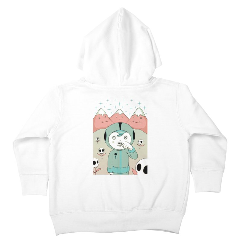 Lucius and His First Mustache Finger Kids Toddler Zip-Up Hoody by Tara McPherson