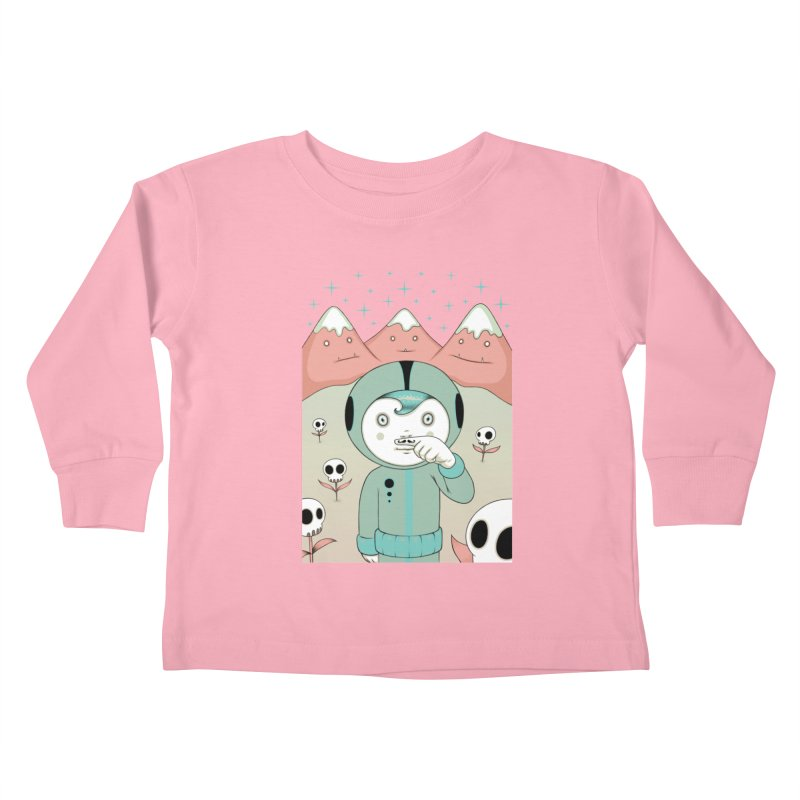 Lucius and His First Mustache Finger Kids Toddler Longsleeve T-Shirt by Tara McPherson
