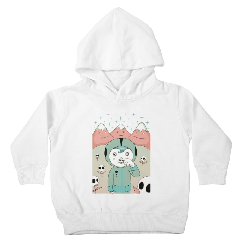 Lucius and His First Mustache Finger Kids Toddler Pullover Hoody by Tara McPherson
