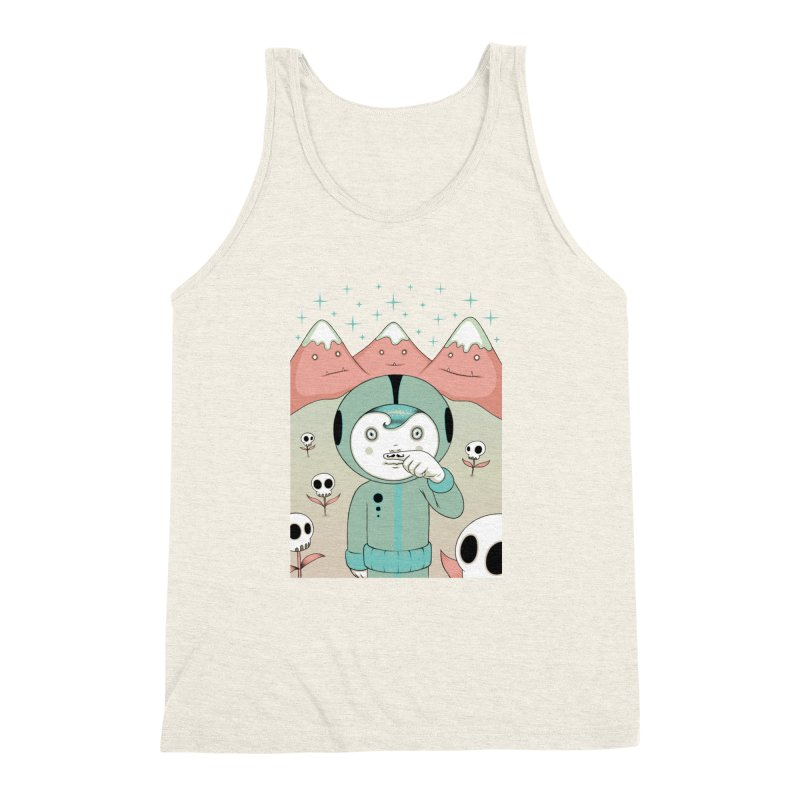 Lucius and His First Mustache Finger Men's Triblend Tank by Tara McPherson