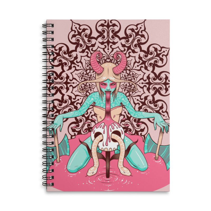 Demoness Accessories Lined Spiral Notebook by Tara McPherson
