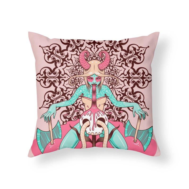 Demoness Home Throw Pillow by Tara McPherson