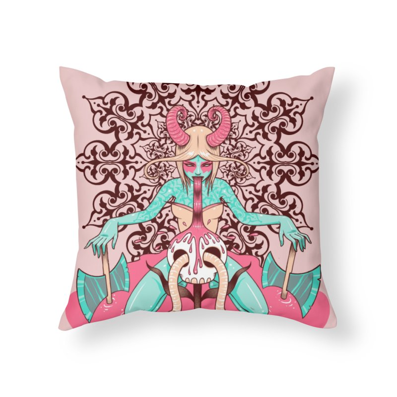 Demoness Home Throw Pillow by Tara McPherson