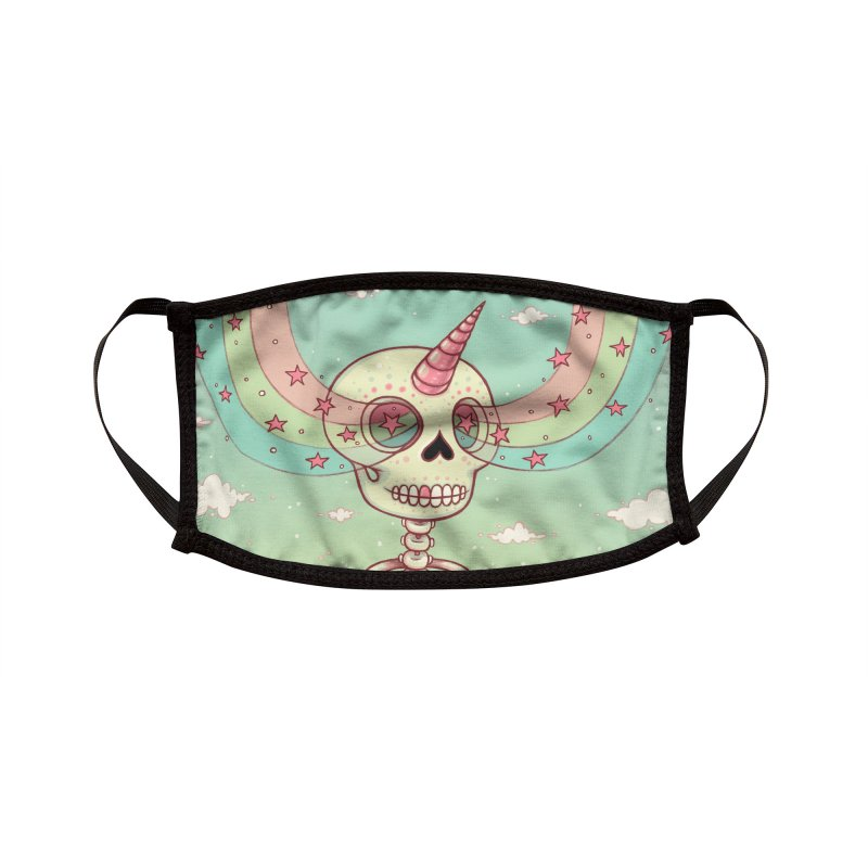 Skeleton Heart Accessories Face Mask by Tara McPherson