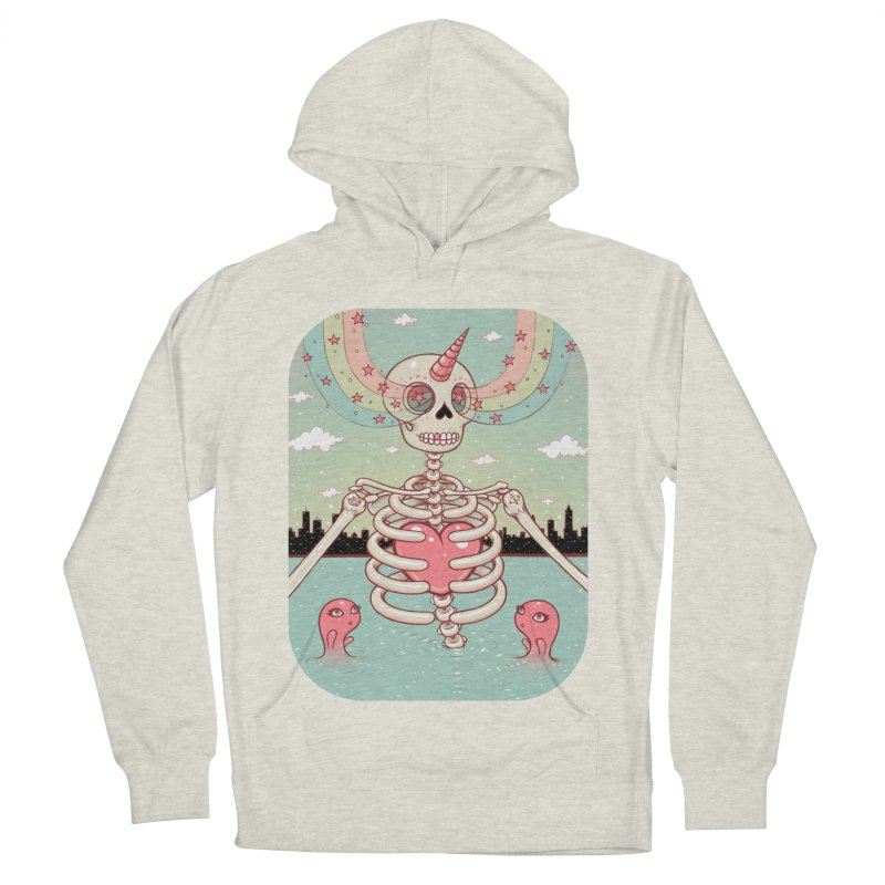 Skeleton Heart Men's Pullover Hoody by Tara McPherson