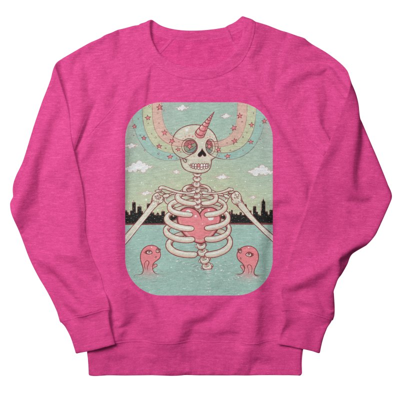 Skeleton Heart Men's Sweatshirt by Tara McPherson