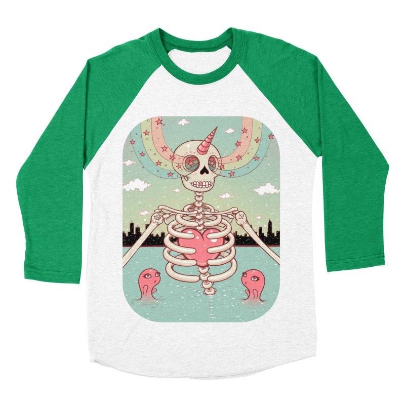 Skeleton Heart Women's Baseball Triblend T-Shirt by Tara McPherson