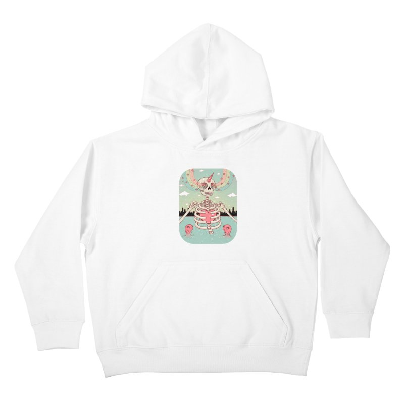 Skeleton Heart Kids Pullover Hoody by Tara McPherson