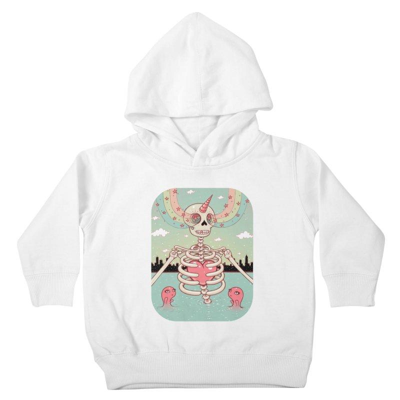 Skeleton Heart Kids Toddler Pullover Hoody by Tara McPherson