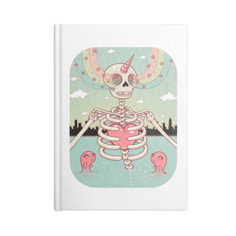 Skeleton Heart Accessories Notebook by Tara McPherson