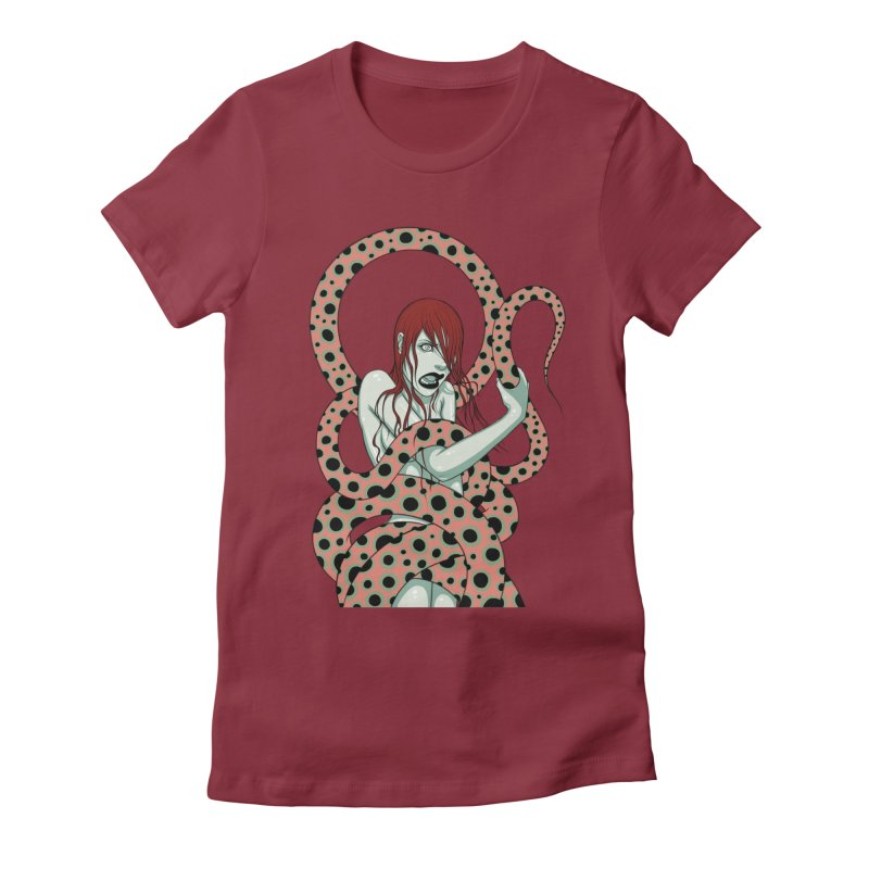 Snake Charmer Women's Fitted T-Shirt by Tara McPherson
