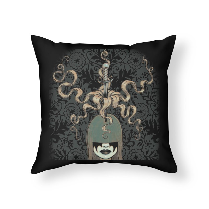 Sword Swallower Home Throw Pillow by Tara McPherson
