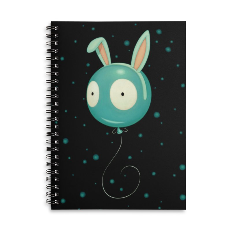 Bunny Wiggle Accessories Lined Spiral Notebook by Tara McPherson