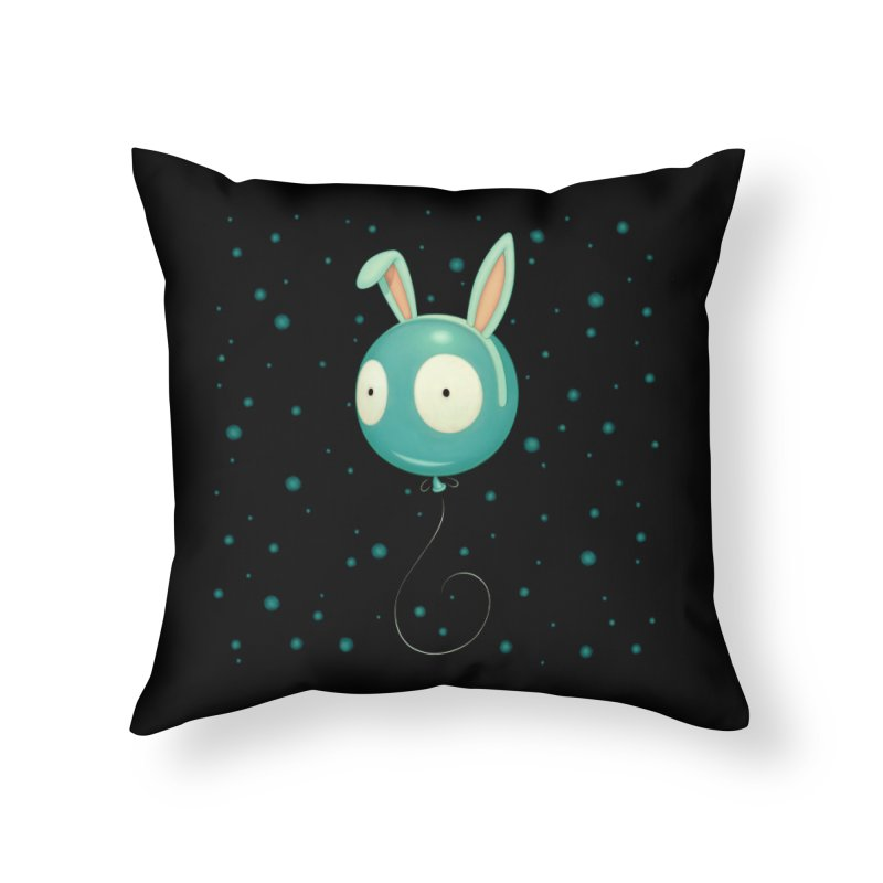 Bunny Wiggle Home Throw Pillow by Tara McPherson
