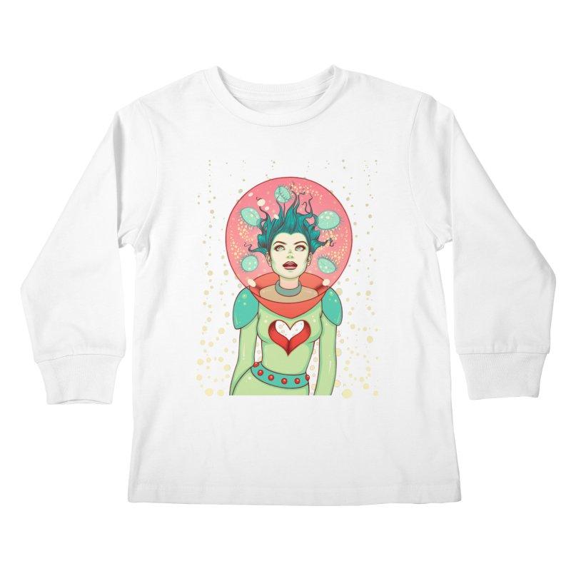 Interstellar Jelly Kids Longsleeve T-Shirt by Tara McPherson