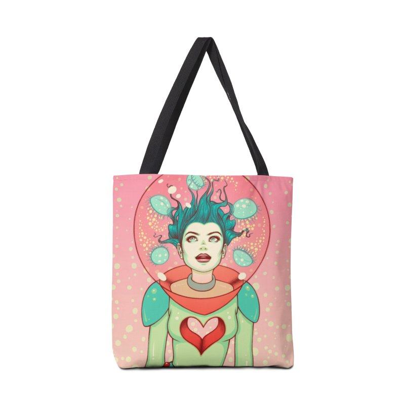 Interstellar Jelly Accessories Tote Bag Bag by Tara McPherson