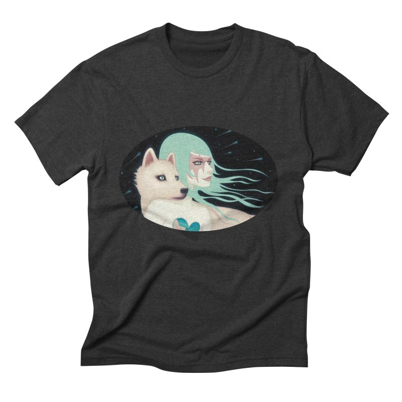 The Wanderers in Men's Triblend T-shirt Heather Onyx by Tara McPherson