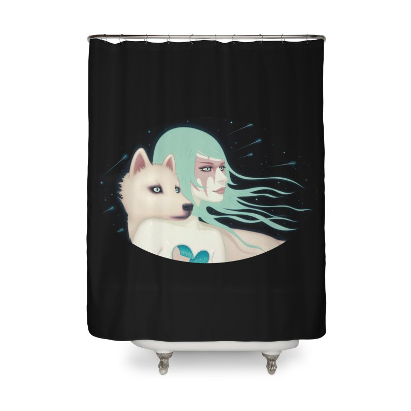The Wanderers Home Shower Curtain by Tara McPherson
