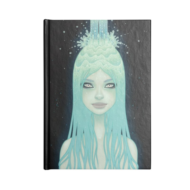 Crystal Waterfall Accessories Lined Journal Notebook by Tara McPherson