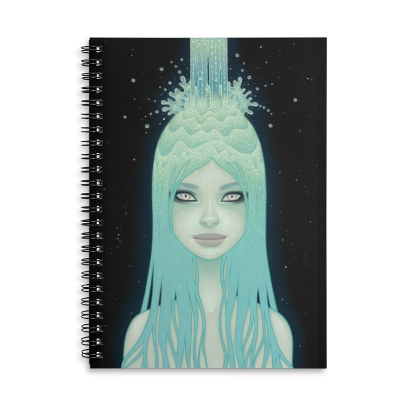 Crystal Waterfall Accessories Lined Spiral Notebook by Tara McPherson