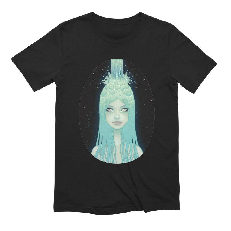 Crystal Waterfall Men's Extra Soft T-Shirt by Tara McPherson