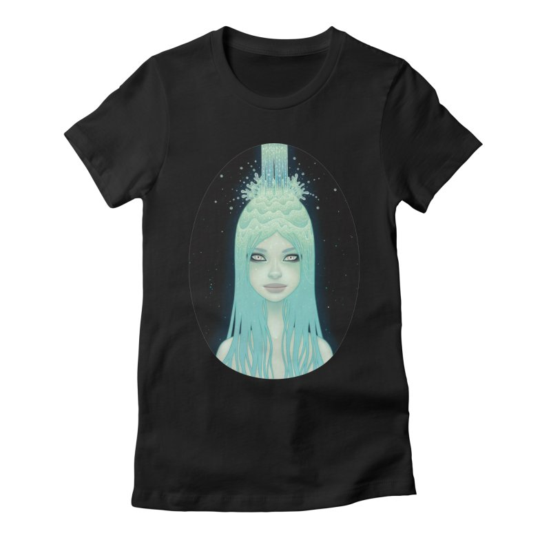 Crystal Waterfall in Women's Fitted T-Shirt Black by Tara McPherson