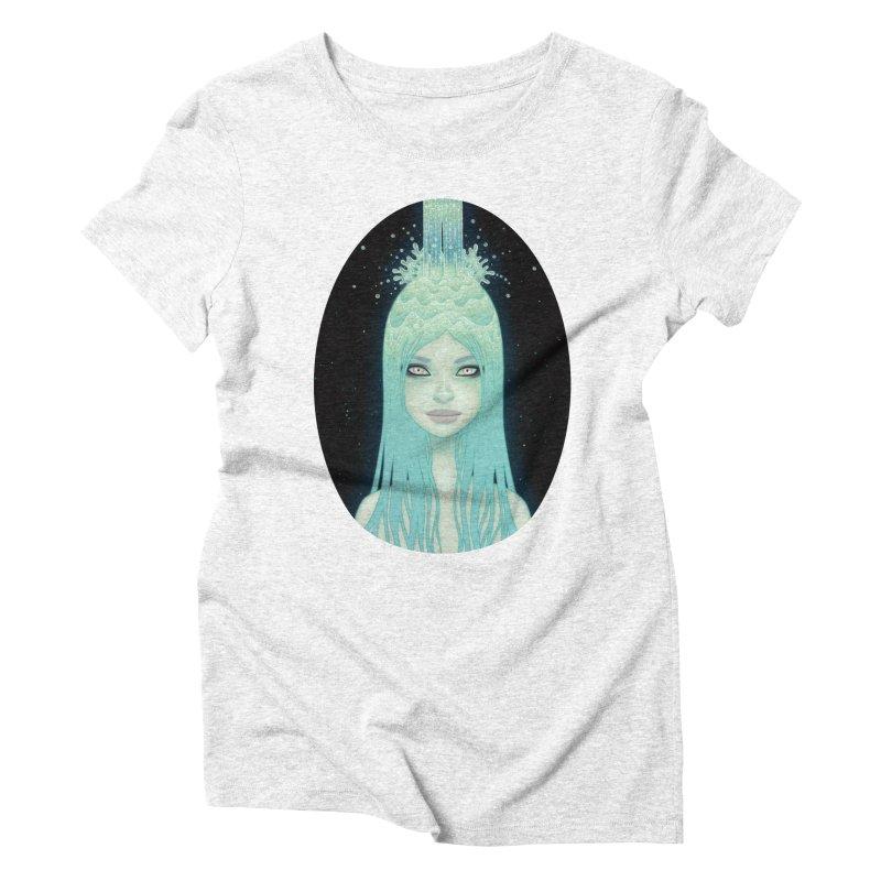 Crystal Waterfall Women's Triblend T-shirt by Tara McPherson
