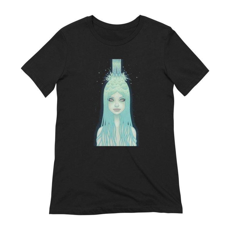 Crystal Waterfall Women's Extra Soft T-Shirt by Tara McPherson