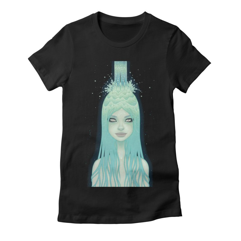 Crystal Waterfall Women's Fitted T-Shirt by Tara McPherson