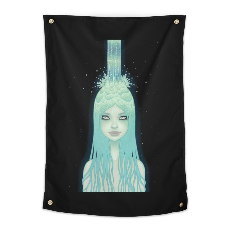 Crystal Waterfall Home Tapestry by Tara McPherson