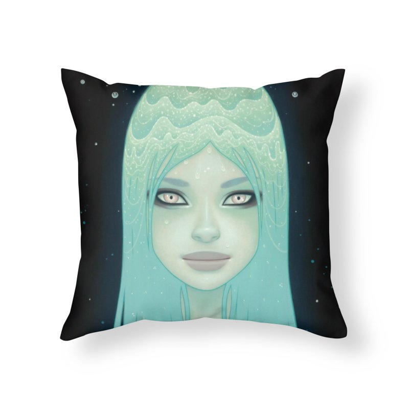 Crystal Waterfall Home Throw Pillow by Tara McPherson