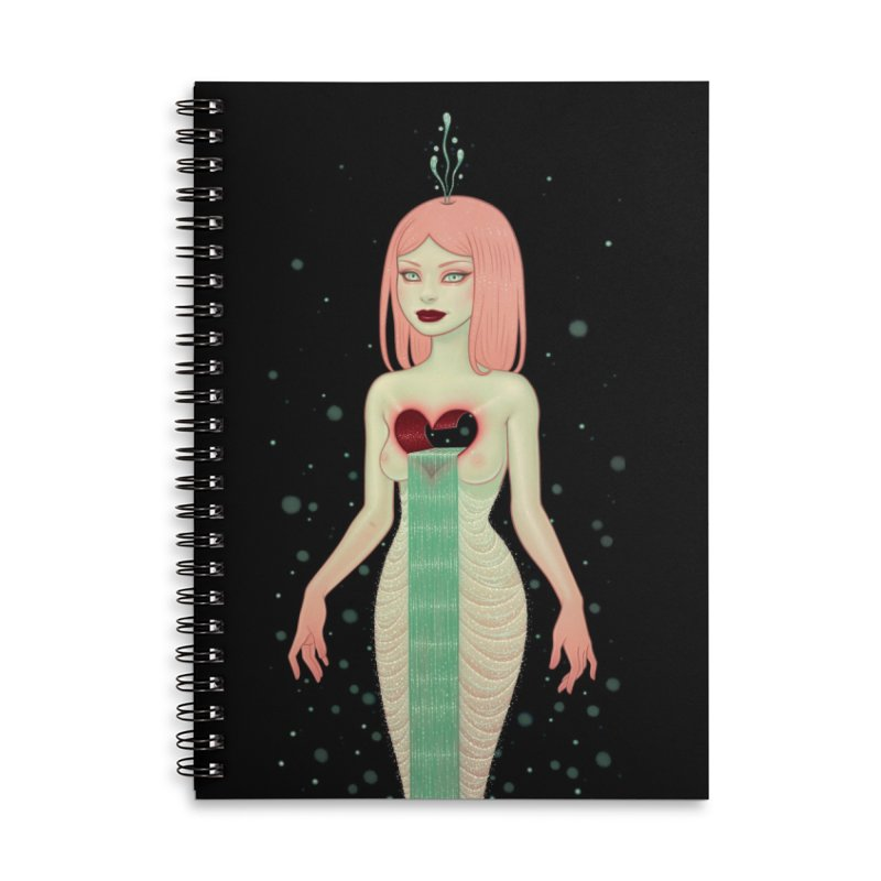 The Fountain Accessories Lined Spiral Notebook by Tara McPherson